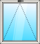 Egyszárnyú bukó műanyag ablak - műanyag ablak raktárkészlet