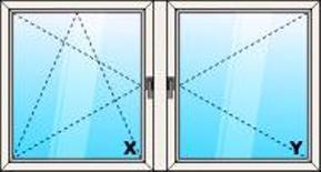 Kétszárnyú bukó-nyíló/nyíló műanyag ablak - műanyag ablak raktárkészlet