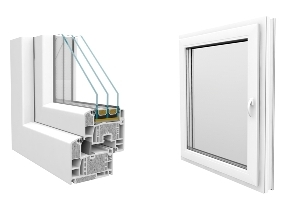 Rehau Geneo ablak, High-Tech RAU-FIPRO alapanyagból